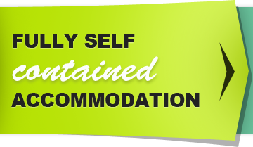 Fully self contained accommodation